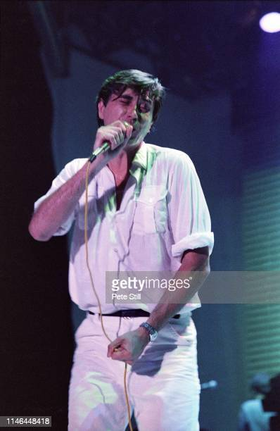 Bryan Ferry of Roxy Music performs on stage at Wembley Arena during the 'Flesh Blood' tour on August 2nd 1980 in London England