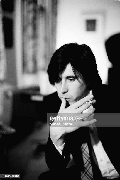 Bryan Ferry of Roxy Music portrait at home London 10th January 1974
