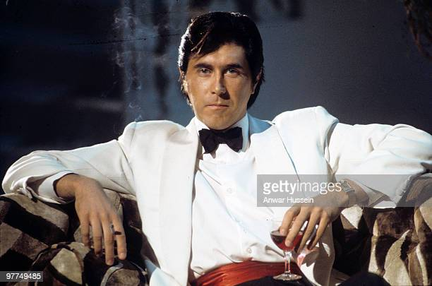 Bryan Ferry of Roxy Music poses during a portrait session for his album 'Another Place Another Time' on July 1 1974 in London England