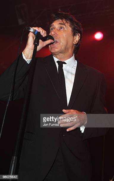 Bryan Ferry performs at the ICA fundraising gala at KOKO on March 24, 2010 in London, England.