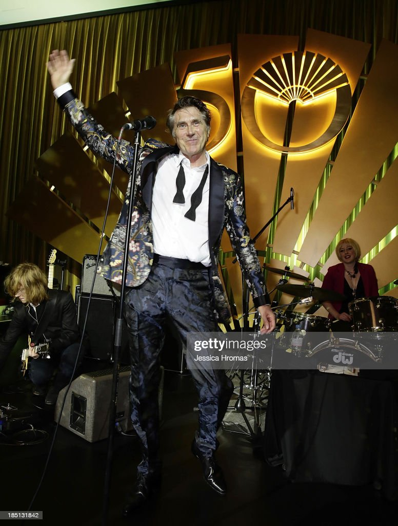 Bryan Ferry performs at the Mandarin Oriental Hong Kong's 50th Anniversary Gala on October 17, 2013 in Hong Kong.