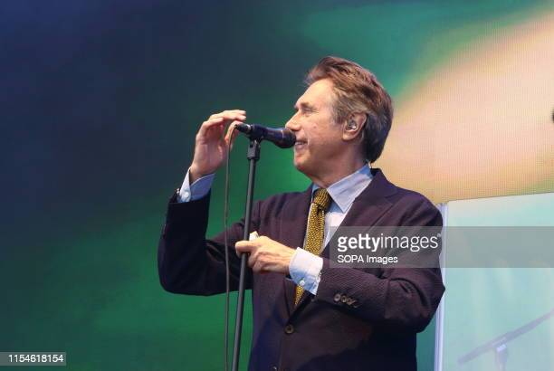 Bryan Ferry performs live on stage at the Hyde Park during the 3rd day of a British Summertime festival in London