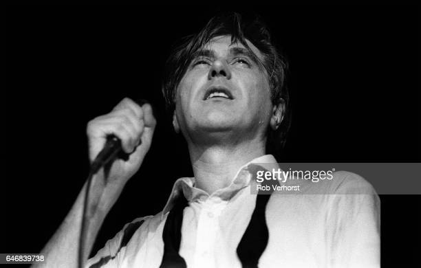 Bryan Ferry performs on stage with Roxy Music Ahoy Rotterdam 5th September 1982