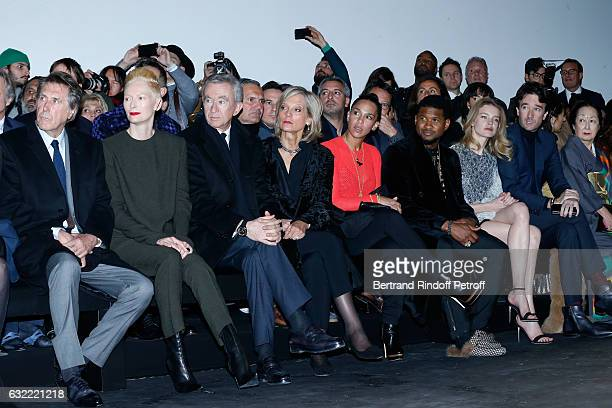 Bryan Ferry Tilda Swinton Owner of LVMH Luxury Group Bernard Arnault his wife Helene Arnault Usher his wife Grace Miguel Natalia Vodianova and...