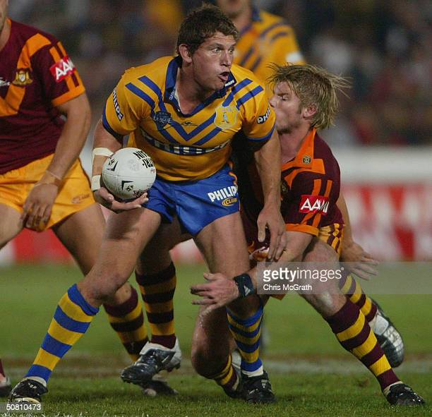 Bryan Fletcher of City in action during the NRL City against Country match played at Express Advocate Stadium, May 7, 2004 in Gosford, Australia.