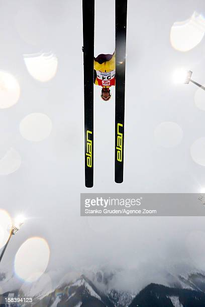 Bryan Fletcher of the USA competes during the FIS Nordic Combined World Cup HS98/10km December 15 2012 in Ramsau Austria