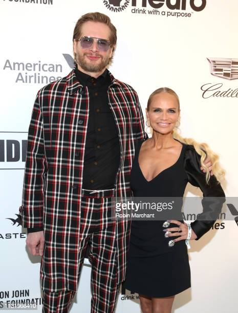 Bryan Fuller and Kristin Chenoweth attend 27th Annual Elton John AIDS Foundation Academy Awards Viewing Party Celebrating EJAF And The 91st Academy...