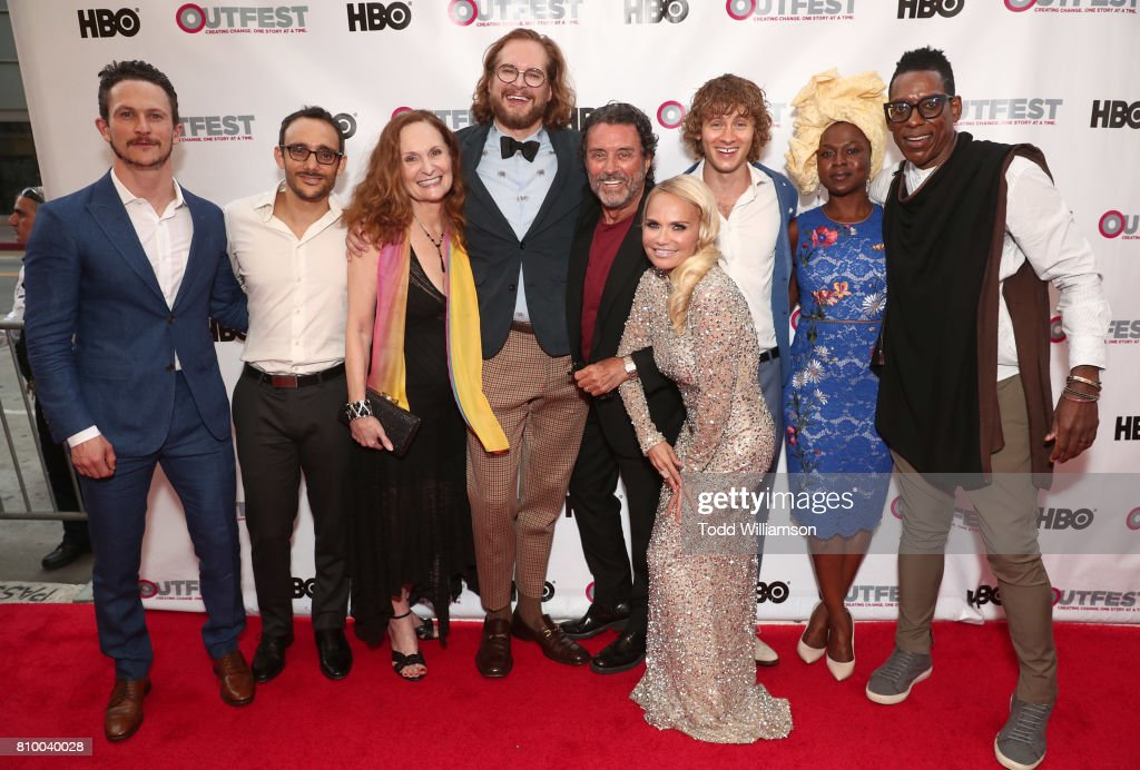 Bryan Fuller with the cast of American Gods at the 2017 Outfest Los Angeles LGBT Film Festival Opening Night Gala at Orpheum Theatre on July 6, 2017 in Los Angeles, California.