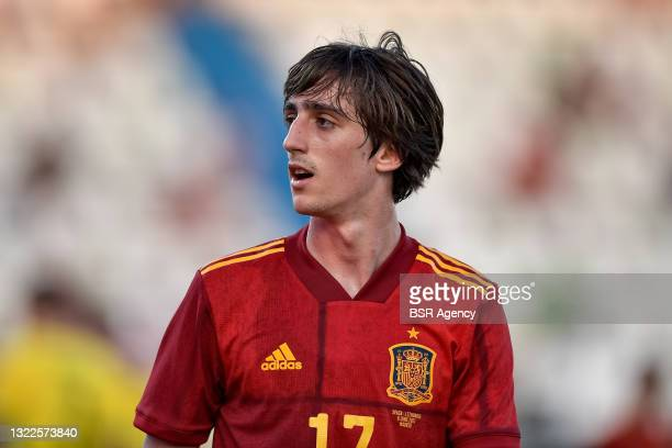 Bryan Gil of Spain during the International Friendly match between Spain and Lithuania at Municipal de Butarque on June 8, 2021 in Madrid, Spain