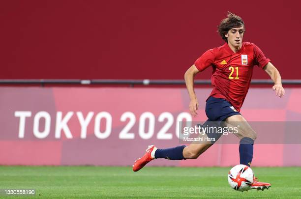Bryan Gil of Team Spain in action during the Men's First Round Group C match between Australia and Spain on day two of the Tokyo 2020 Olympic Games...