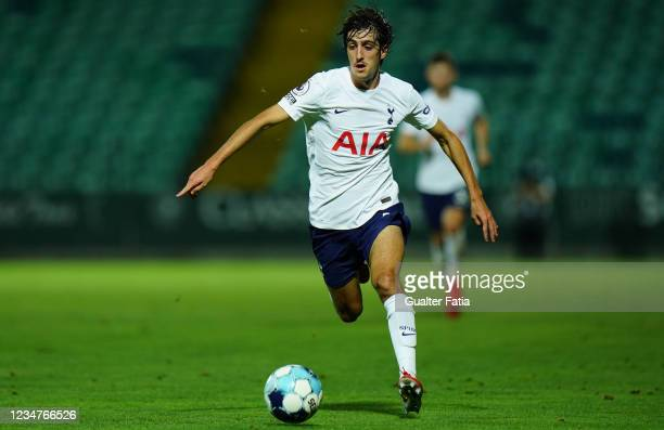 Bryan Gil of Tottenham Hotspur FC in action during the UEFA Europa Conference League match between FC Pacos de Ferreira and Tottenham Hotspur at...