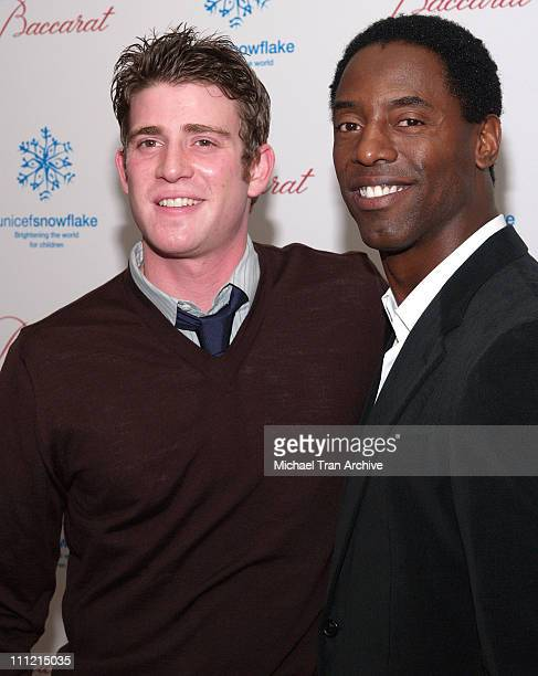 Bryan Greenberg and Isaiah Washington during Baccarat Presents the Lighting of the UNICEF Crystal Snowflake and Chandelier Display on Rodeo Drive...