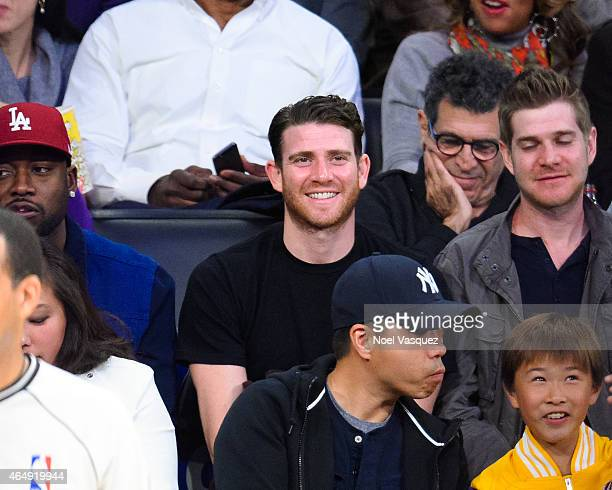 Bryan Greenberg attends a basketball game between the Oklahoma City Thunder and the Los Angeles Lakers at Staples Center on March 1 2015 in Los...