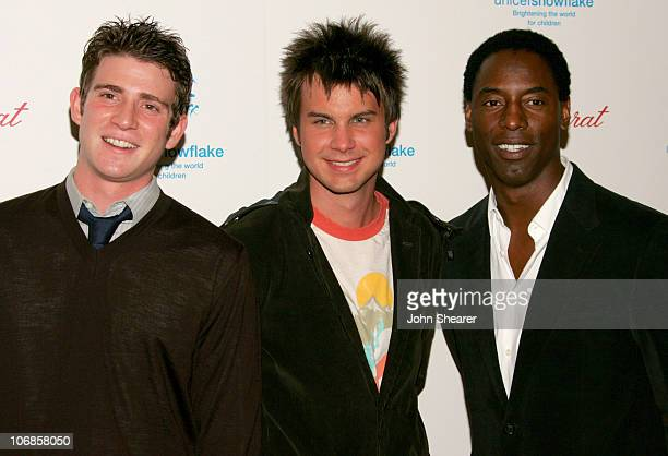 Bryan Greenberg Howie Day and Isaiah Washington during UNICEF Snowflake Ball and Crystal Snowflake Lighting and Chandelier Display Presented by...