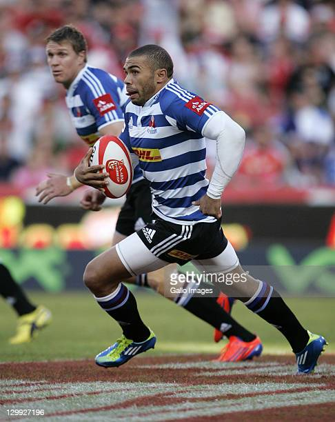 Bryan Habana of WP in action during the Absa Currie Cup semifinal match between MTN Lions and DHL Western Province from Coca Cola Park on October 22...