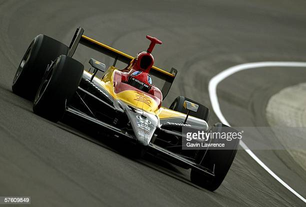 Bryan Herta driver of the XM Satellite Andretti Green Racing Dallara Honda during practice for qualifying for the IRL Indycar Series 90th running of...