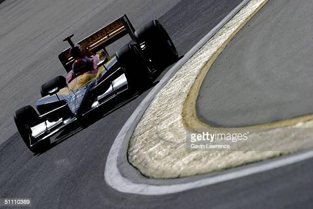 Bryan Herta drives the Andretti Green Racing XM Satellite Radio Honda Dallara during practice for the Indy Racing League IndyCar Series Menards AJ...