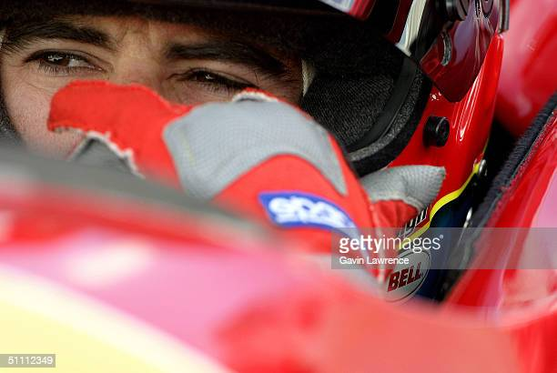 Bryan Herta is seen aboard the Andretti Green Racing XM Satellite Radio Honda Dallara during practice for the Indy Racing League IndyCar Series...