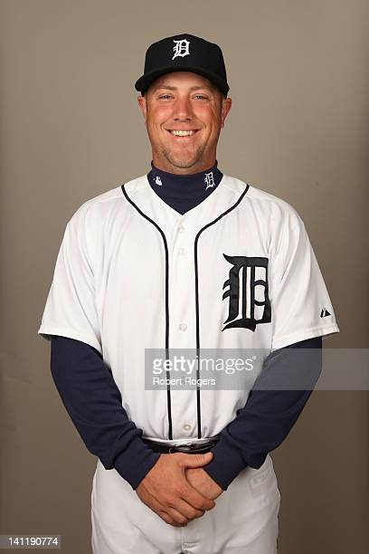 Bryan Holaday of the Detroit Tigers poses during Photo Day on Tuesday February 28 2012 at Joker Marchant Stadium in Lakeland Florida