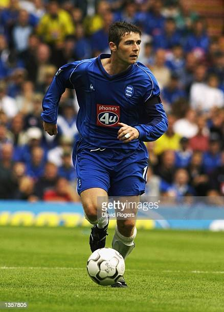 Bryan Hughes of Birmingham City in action during the Barclaycard Premiership match between Birmingham City and Blackburn Rovers at St Andrew's...