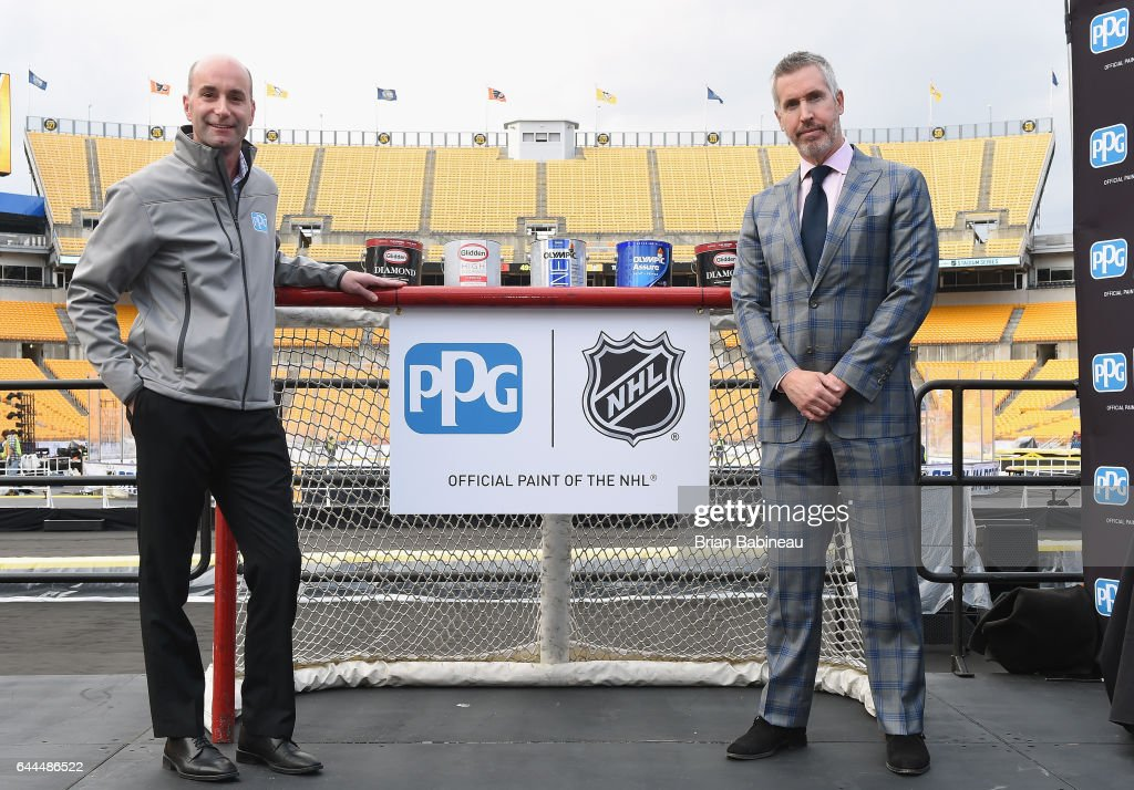 2017 coors light nhl stadium series pittsburgh nhlppg press bryan iams ppg vice president corporate and government affairs l and brian mozeypictures Gallery