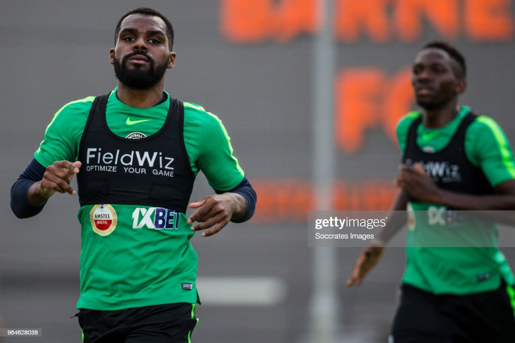 Bryan Idowu of Nigeria during the Nigeria Training at the The hive on May 31, 2018 in Barnet United Kingdom