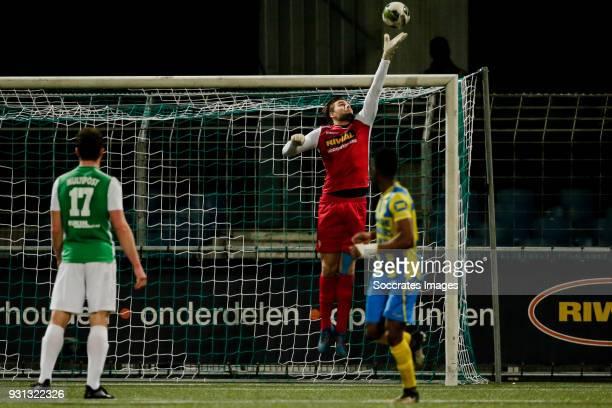 Bryan Janssen of FC Dordrecht during the Dutch Jupiler League match between FC Dordrecht v RKC Waalwijk at the Riwal Hoogwerkers Stadium on March 12...