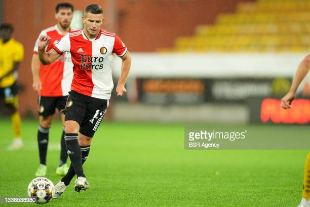 Bryan Linssen of Feyenoord during the UEFA Conference League match between IF Elfsborg and Feyenoord at Boras Arena on August 26, 2021 in Boras,...
