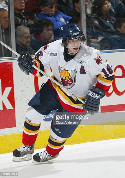 Bryan Little of the Barrie Colts skates with the play during the Ontario Hockey League game against the London Knights at John Labatt Centre on...