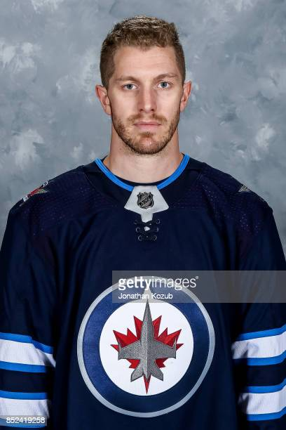 Bryan Little of the Winnipeg Jets poses for his official headshot for the 20172018 season on September 14 2017 at the Bell MTS Iceplex in Winnipeg...