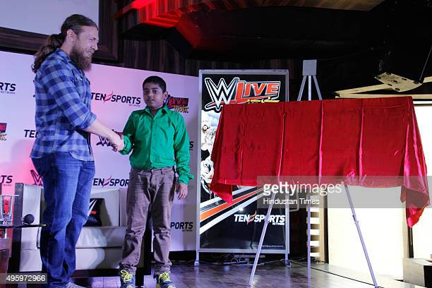 Bryan Lloyd Danielson American professional wrestler better known by his current ring name Daniel Bryan during the press conference of the WWE Live...
