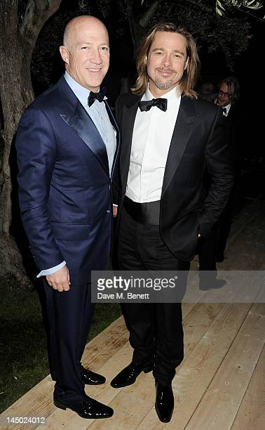 Bryan Lourd and actor Brad Pitt attend the 'Killing Them Softly' after party hosted by Chopard Matchless and Johnnie Walker Blue Label at Villa St...