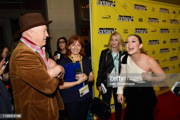 Bryan Lourd and Billie Lourd attends the Booksmart Premiere 2019 SXSW Conference and Festivals at Paramount Theatre on March 10 2019 in Austin Texas