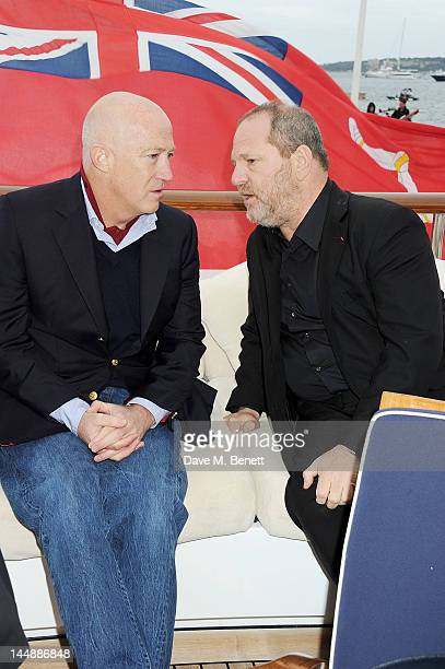 Bryan Lourd and Harvey Weinstein attend a lunch hosted by Len Blavatnik Harvey Weinstein and Warner Music during the 65th Cannes Film Festival on...