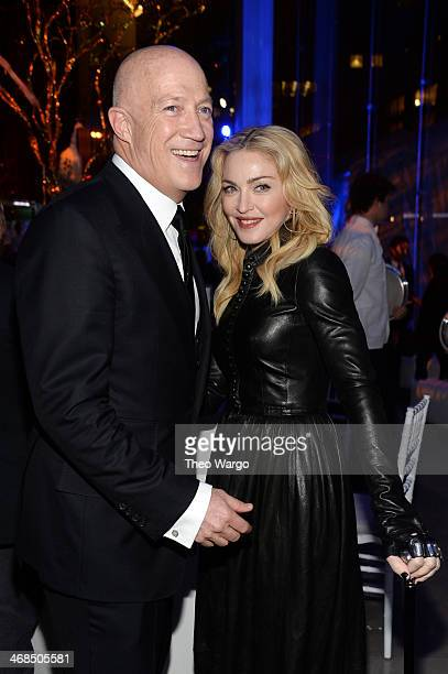 Bryan Lourd and Madonna attend the Great American Songbook event honoring Bryan Lourd at Alice Tully Hall on February 10 2014 in New York City