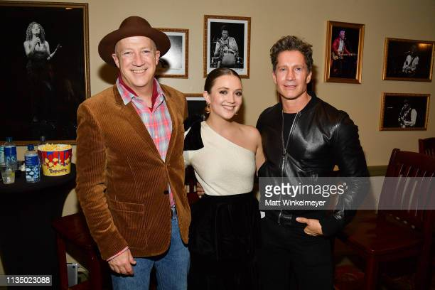 Bryan Lourd Billie Lourd and Bruce Bozzi attend the Booksmart Premiere 2019 SXSW Conference and Festivals at Paramount Theatre on March 10 2019 in...