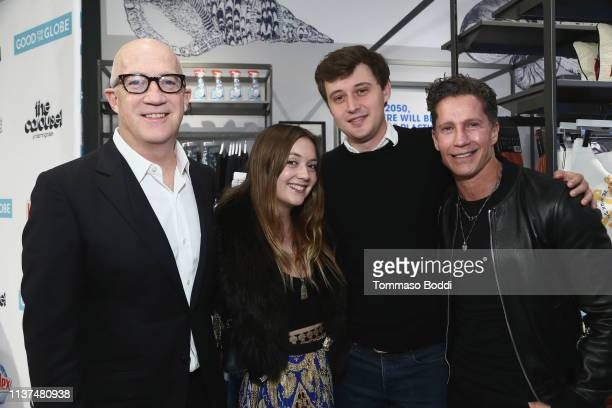 Bryan Lourd Billie Lourd Austen Rydell and Bruce Bozzi attend the Bloomingdale's Century City Launches Good For The Globe at Bloomingdale's on March...