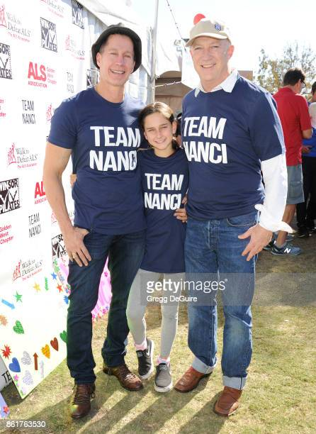 Bryan Lourd Bruce Bozzi and daughter Ava attend Nanci Ryder's Team Nanci 15th Annual LA County Walk To Defeat ALS at Exposition Park on October 15...
