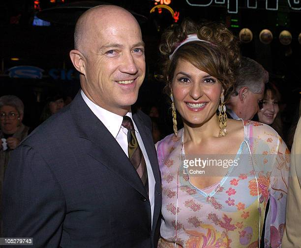 Bryan Lourd of CAA and Nia Vardalos during Connie and Carla World Premiere After Party at Universal Studios Cinema in Universal City California...