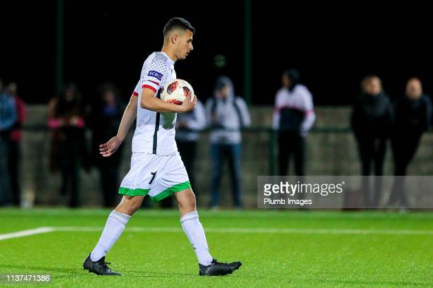 Bryan Maene of OH Leuven during the Reserve Pro League Cup match between OH Leuven Beloften and RSC Anderlecht Reserve at the Neerpede training...
