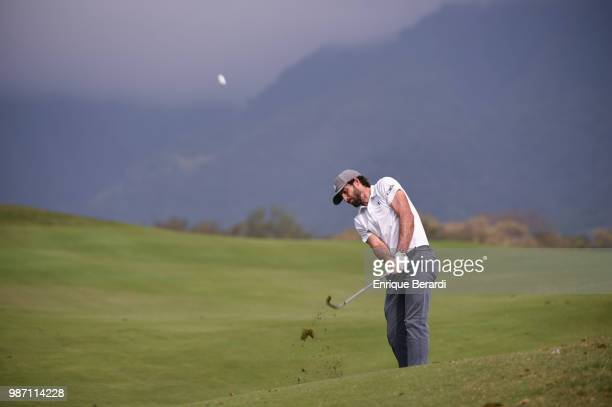Bryan Martin of the United States hits from the ninth fairway during the third round of the PGA TOUR Latinoamérica Guatemala Stella Artois Open at La...
