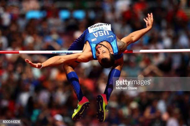 Bryan McBride of the United States competes during the Men's High Jump qualification during day eight of the 16th IAAF World Athletics Championships...