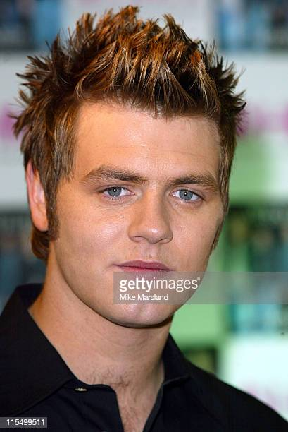 Bryan McFadden from Westlife during Westlife Signing Copies Of Their New Single 'Mandy' at HMV Trocadero Piccadilly Circus in London Great Britain