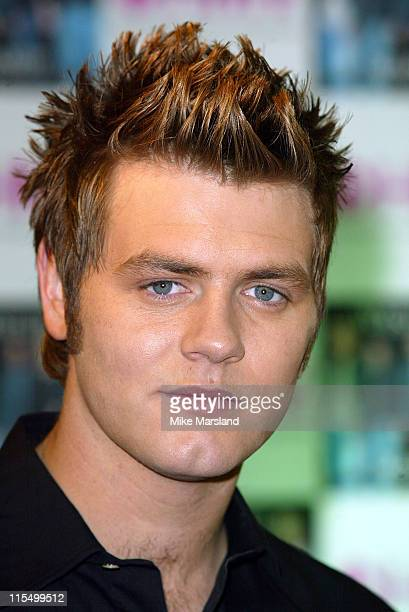 Bryan McFadden from Westlife during Westlife Signing Copies Of Their New Single Mandy at HMV Trocadero Piccadilly Circus in London Great Britain