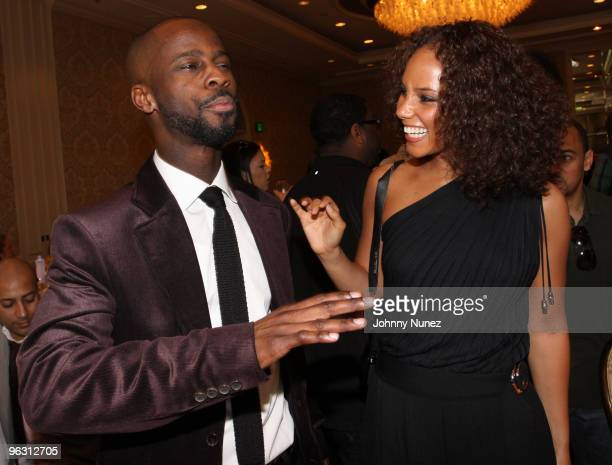 Bryan Michael Cox and Alicia Keys attend the SESAC PreGrammy Brunch at The Four Seasons Hotel on January 31 2010 in Beverly Hills California