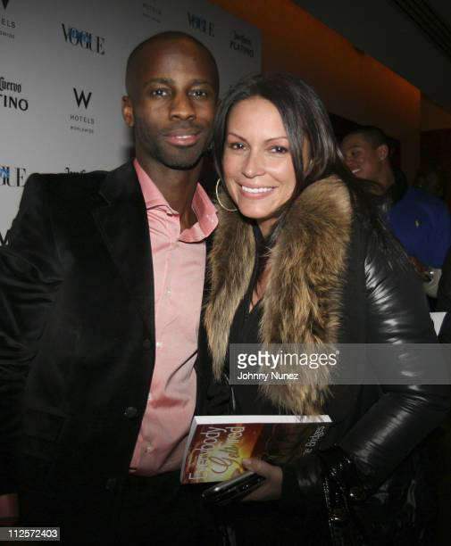 Bryan Michael Cox and Angie Martinez attend Bryan Michael Cox's 30th Birthday Party at the W Hotel Union Square December 18 2007 in New York City