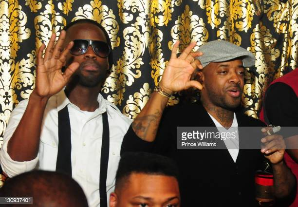 Bryan Michael Cox and Jermain Dupri attends the party hosted by Rick Ross at the Gold Room on November 11 2010 in Atlanta Georgia
