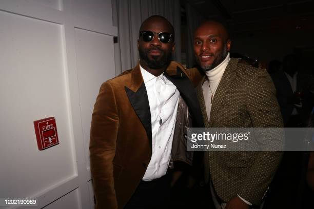 Bryan Michael Cox and Kenny Lattimore attend the Bryan Michael Cox 16th Annual Music And Memory PreGrammy Brunch 2020 at SLS Hotel on January 26 2020...