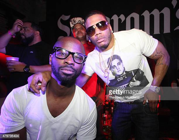 Bryan Michael Cox and Nelly at House of Blues on July 5 2015 in New Orleans Louisiana