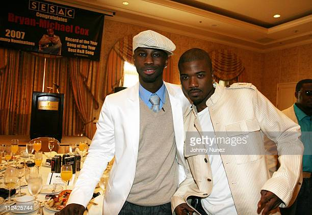 Bryan Michael Cox and Ray J during The 49th Annual GRAMMY Awards SESAC Congratulates Bryan Michael Cox On His 2007 Grammy Nominations at The Four...